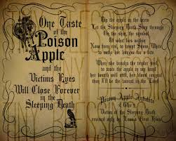 Vintage Halloween Books by Poison Apple Sleeping Death Spell Chant Printable Quote Set