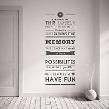 personalised quote wall sticker oakdene designs personalised quote wall sticker