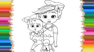coloring page the boss baby coloring markers videos for children