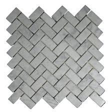 interior contemporary cream herringbone tile layout design as