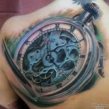 clock tattoo photo num 2315