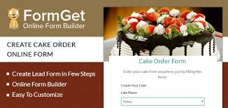 cake order formget create cake order form for bakeries cake shops formget