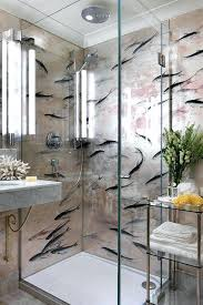 bathroom with wallpaper ideas chic wall paper for bathrooms lucky fish wallpaper bathroom