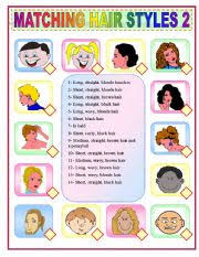 hair style esl english teaching worksheets describing the hair