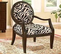 Zebra Accent Chair Adf Accent Chair With Zebra Print In Black Finish