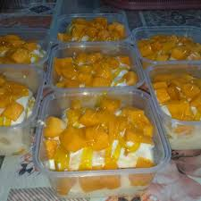 Kek Mango kek cheese mango leleh food drinks baked goods on carousell