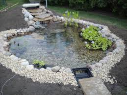 building a garden pond home outdoor decoration