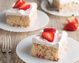 strawberry sheet cake bake from scratch