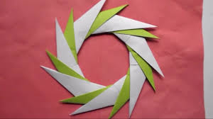 how to make a paper transforming ninja star origami craft for