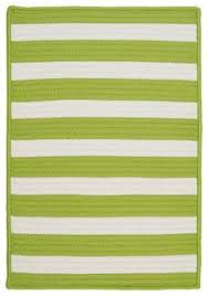 Lime Green Outdoor Rug Catamaran Stripe Sprout White Indoor Outdoor Rug Colors Spring