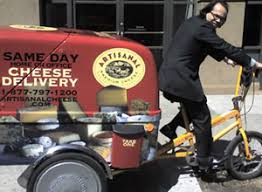 cheese delivery artisanal offers same day delivery in manhattan via rickshaw