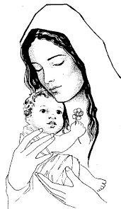 catholic coloring baby jesus mother mary