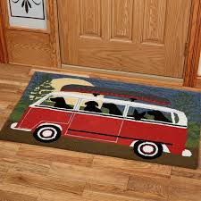 dogs camping trip indoor outdoor rug