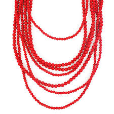long red necklace images Bold beaded strands multi layered red necklace by shamelessly jpg