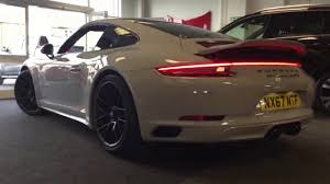 rare porsche 911 rare crayon grey 2017 67 porsche 911 carrera 4 gts acklam car