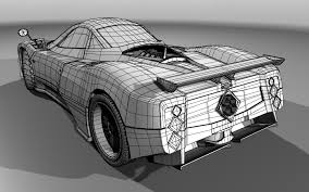 pagani drawing pagani zonda f 3d vehicles models for maya lugher 3d