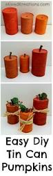 easy to make fall decorations how to make tin can pumpkins centerpieces easy and craft