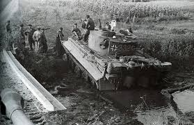 white jeep stuck in mud world war ii pictures in details tiger 332 stuck in the mud