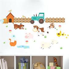 stickers animaux chambre bébé stickers animaux de la ferme ferme animaux chien clature stickers