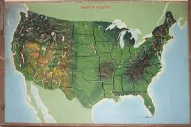 Study United States Map by Yaggys Geographical Study An Educational Tour De Force Rare