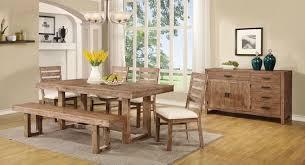 elmwood wire brush wheat rectangular dining table