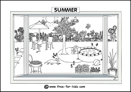 coloring pages seasons funycoloring
