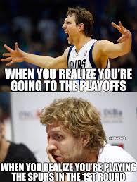 Nba Playoff Meme - dirk nowitzki mavericks vs spurs nba playoffs meme sports
