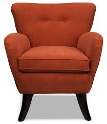 Orange Chair by Elnora Accent Chair Terracotta Orange Leon U0027s