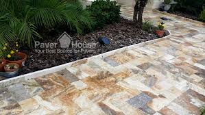 Travertine Patio Patio Paver Installation Art Pool Brick Paver