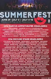2016 lineup summerfest the world u0027s largest music festival
