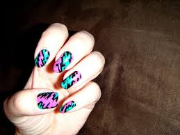 80 u0027s theme nails by mamalove83 on deviantart