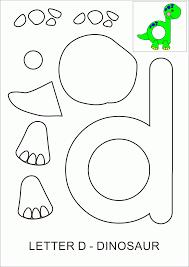 letter d dinosaur template preschool pinterest teacher