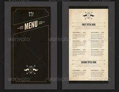 modern restaurant menus contemporary restaurant menu design