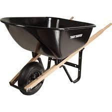 true temper 6 cu ft steel wheelbarrow s6but25 the home depot