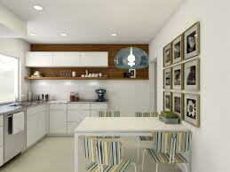 creative small kitchen ideas with modern design and pendant lamps
