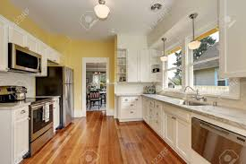 oak kitchen cabinets with stainless steel appliances kitchen interior with white cabinets stainless steel appliances