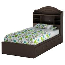 twin bed with drawers and bookcase headboard summer breeze twin mates bed with drawers bookcase headboard set