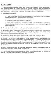 10 rules of table tennis milo technical rules for table tennis milo little olympics visayas