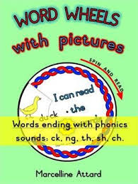 word wheels with pictures set 3 words ending with phonic sounds