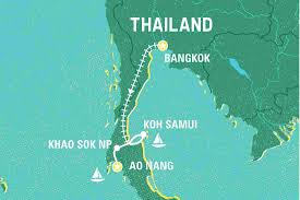 Thailand On World Map by Super South Thailand Thailand Tours Geckos Adventures Us