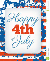 happy 4th of july card national us holiday independence day stock