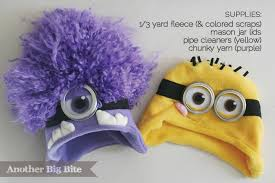 purple minion costume diy minion hats another big bite
