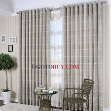 Grey Plaid Curtains Special Price Country Grey Plaid Cotton Eco Friendly Curtains