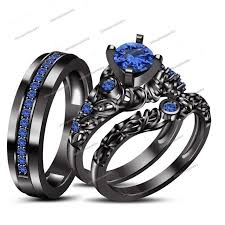 his and hers wedding sets awful of wedding rings set for him and black and blue