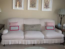 Shabby Chic Slipcovered Sofa Sofa 9 Decorating Chic Surefit In Olive For Inspiring