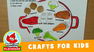 stew craft for kids maple leaf learning playhouse youtube
