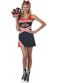 cheerleader halloween costumes classic cheerleader costume escapade uk