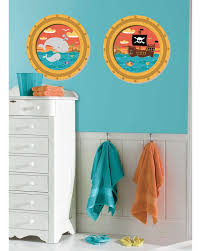 fun pirate room decor ideas pirate ship portholes stickers