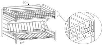 Bunk Bed Assembly Metal Bunk Bed Assembly Manual Intersafe