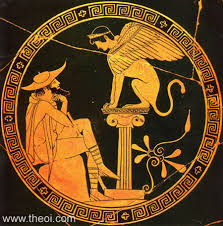 Different Types Of Greek Vases Sphinx Woman Headed Lion Of Greek Mythology